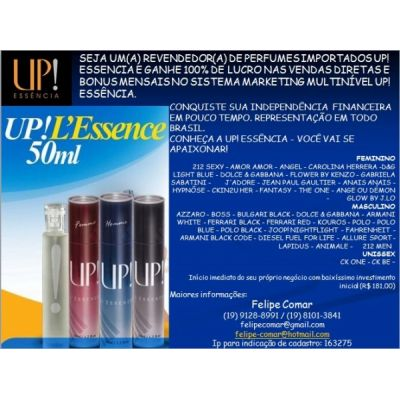 Vendedor Autônomo - UP Essencia - Perfumaria
