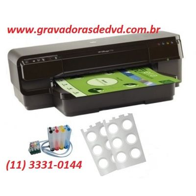 Impressora de DVD/CD HP Officejet 7110 Adaptada
