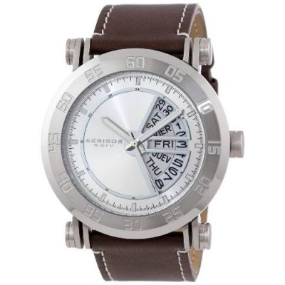 Relógio Akribos XXIV Men's AK552SS Stainless Steel Quartz Day Date Strap Watch