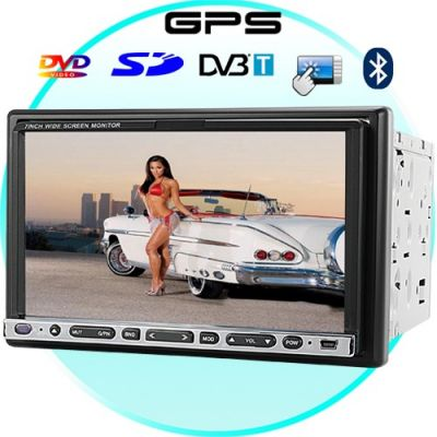 7 Inch Touchscreen Car DVD Player with GPS + DVB-T