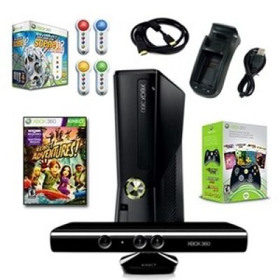 Xbox 360 Slim 4GB Scene Holiday Bundle É com 6 jogos, controlador extra, e mais -Made in EUA.