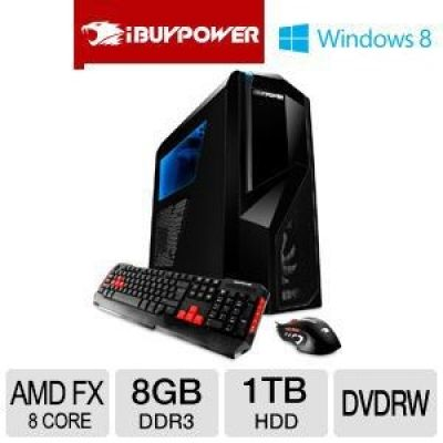 PC GAME - iBUYPOWER TD610 AMD de oito núcleos FX 8GB de memória 1TB HDD Windows 8 - MADE IN EUA -