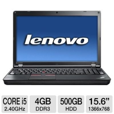 Lenovo ThinkPad Edge E520 PC Notebook 1143-AFU - Intel Core i5-2430M 2.40GHz, 4GB DDR3, 500GB HDD, D