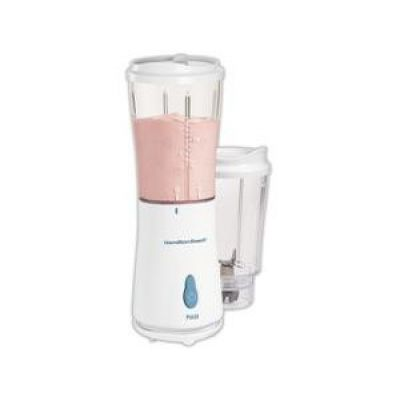 Hamilton Beach 51102 Branco Single-Serve Blender (com 2 frascos e tampas 2) -MADE IN EUA.