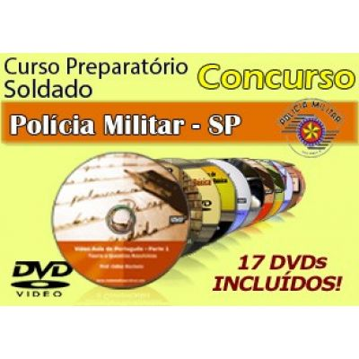 Vídeo Curso do Concurso PM-SP 2014 - Soldados CFSd em 17 DVDs