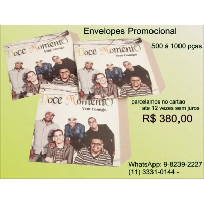 envelopes para cds,envelopes para dvds,envelopes promocionais