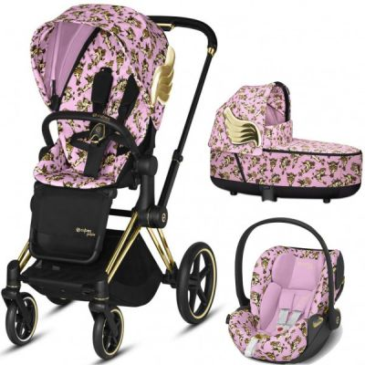 Cybex Priam Travel System - Querubins por Jeremy Scott (rosa)